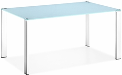 Zuo Modern Glass Top Slim Dining Table - click to enlarge