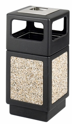 Safco Canmeleon Outdoor Receptacle with Steel Ash Urn - click to enlarge