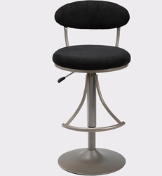 Hillsdale Venus Bar Stools with Black Suede - click to enlarge