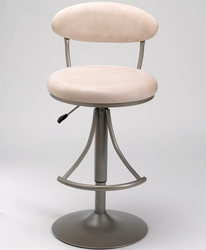 Hillsdale Venus Modern Swivel Bar Stool with Fawn Suede - click to enlarge