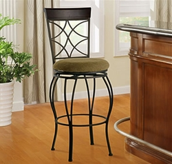 """Linon Curves 24"""" Counter Stool - Metallic Brown - click to enlarge"""