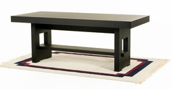 "Diamond Sofa 78"" Rectangle Dining Table with Shelf - click to enlarge"