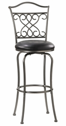 Hillsdale Wayland Swivel Counter Stool in Pewter - click to enlarge