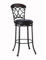 Hillsdale Trevelian Swivel Counter Stool with Brown Faux Leather Upholstery - click to enlarge