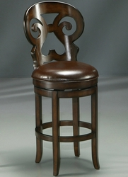 Pastel Hermosa Swivel Barstool in Russet Cordovan Hand Painting - click to enlarge