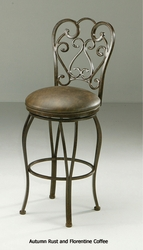 Pastel Magnolia Swivel Barstool in Autumn Rust - click to enlarge