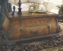 Old World Map Bombay Trunk Coffee Table - click to enlarge