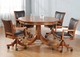Hillsdale Park View Game Table & Chairs Set in Medium Brown Oak – Set of 5 - click to enlarge