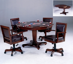 Rich Cherry Hillsdale Ambassador Game Table 5 Piece Set - click to enlarge