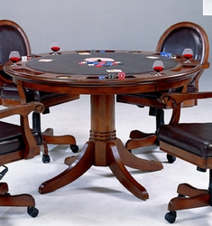 Rich Cherry Hillsdale Furniture Warrington Game Table - 6124GTB - click to enlarge