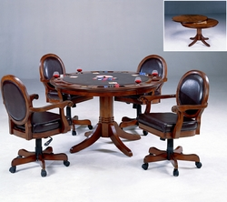 Rich Cherry Hillsdale Warrington Game Table 5 Piece Set - click to enlarge