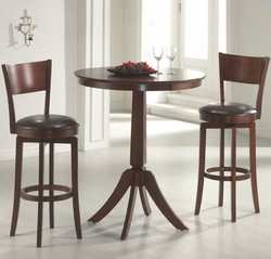 Plainview Bistro Hillsdale Table 3 Pc Set with Archer Stools - 4166830PTS - click to enlarge