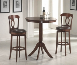 Plainview Bistro Hillsdale Table 3 Pc Set with Corsica Stools - 4166832PTS - click to enlarge