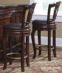 Pulaski Accents Swivel Bar Stool Toscano Vialetto - click to enlarge