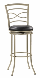 Hillsdale Danville Champagne Finish Swivel Bar Stool - click to enlarge