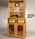 Bellecraft Solid Wood Double Shelf Hutch - click to enlarge
