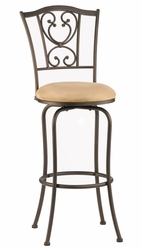 Hillsdale Concord Brown Finish Swivel Counter Stool - click to enlarge