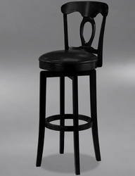 Hillsdale Corsica Swivel Bar Stool with Vinyl Seat in Black - 4168-832 - click to enlarge