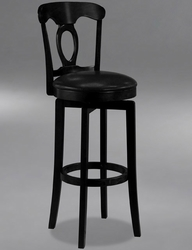 Hillsdale Corsica Swivel Counter Stool with Vinyl Seat in Black - 4168-828 - click to enlarge