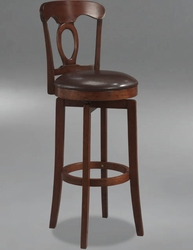 Hillsdale Corsica Swivel Counter Stool with Vinyl Seat in Brown - 4166-828 - click to enlarge