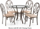 Holly & Martin Paisley Glass Top Dining Table - click to enlarge