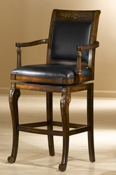 Hillsdale Douglas Distressed Cherry Wood Counter Stool with Gold Highlights - click to enlarge