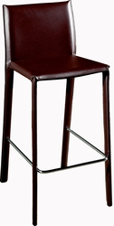 Wholesale Kingston Brown Leather Counter Stool - Set of 2 - click to enlarge