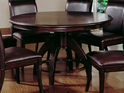 Dark Walnut Hillsdale Nottingham Round Pedestal Dining Table - click to enlarge