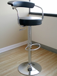 Omicron Adjustable Swivel Stool with Steel Frame - Set of 2 - click to enlarge