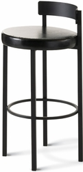 Amisco Industries Zoe Stationary Stool in Metal Finish - click to enlarge