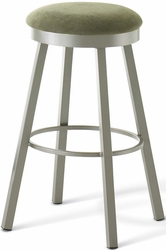 Amisco Industries Connor Metal Swivel Stool with Backless Design - click to enlarge