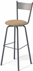 Crystal Amisco Industries Metal Swivel Stool 40487 - click to enlarge
