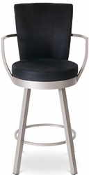 Cardin Amisco Industries Metal Upholstered Swivel Stool - click to enlarge