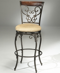 Hillsdale Knightsbridge Swivel Bar Stool with Black Gold & Brown Cherry Finish - click to enlarge