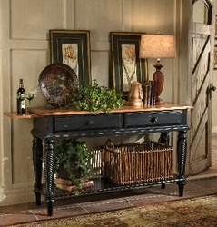 Rubbed Black Hillsdale Wilshire Sideboard Table - click to enlarge