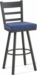 Metal Frame Upholstered Seat Amisco Owen Swivel Stool - click to enlarge