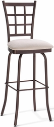 Jamie Amisco Window Pane Back Metal Swivel Stool - click to enlarge