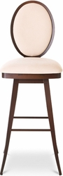 Amisco Camelia Circular Back Swivel Stool in Metal Frame - click to enlarge