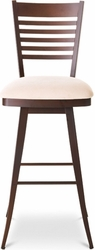 Amisco Edwin Memory Return Swivel Stool in Metal Frame - click to enlarge
