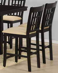Hillsdale Tabacon Non Swivel Counter Stools in Cappuccino - Set of 2 - click to enlarge