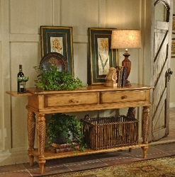 Antique Pine Hillsdale Wilshire Country Sideboard Table - click to enlarge