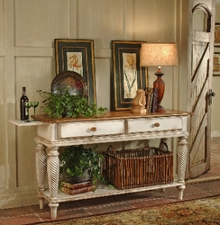 Antique White Hillsdale Wilshire Sideboard Table - click to enlarge