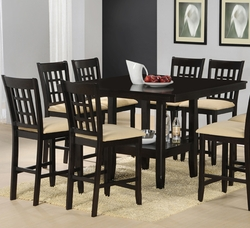 Hillsdale Tabacon Cappuccino Finish Counter Height Dining Set - 7 Piece - click to enlarge