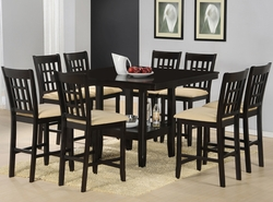 Hillsdale Tabacon Cappuccino Finish Counter Height Dining Set - 9 Piece - click to enlarge