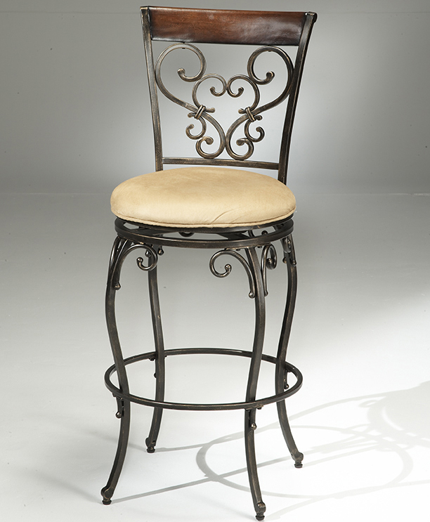 Enjoyable Hillsdale Knightsbridge Swivel Bar Stool With Black Gold Unemploymentrelief Wooden Chair Designs For Living Room Unemploymentrelieforg