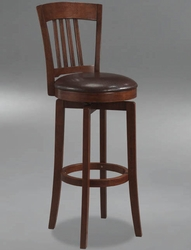 Hillsdale Canton Swivel Counter Stool with Vinyl Seat in Brown - 4166-829 - click to enlarge