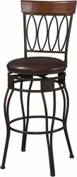 Matte Brown Four Oval Back Stool with PVC Seat - click to enlarge