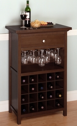 Wine Cabinet with Drawer and Glass Holder - click to enlarge