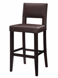 """Linon Vega 30"""" Espresso Frame Counter Stool with PVC Fabric - click to enlarge"""