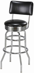 Retro Style Swivel Diner Stools - click to enlarge